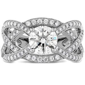 Hearts On Fire Intertwining Diamond Engagement Ring