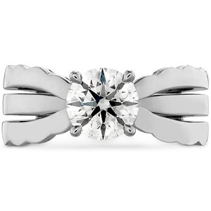 Hearts On Fire Lorelei Triple Row Solitaire Engagement Ring