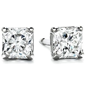 Hearts on Fire Fashion 0.37ct Four Prong Dream Stud Earrings