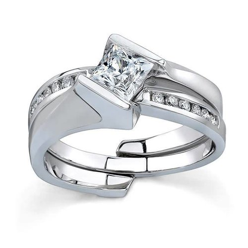 Barkev's 4035S Wedding Set