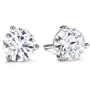 Hearts on Fire Fashion 1.00ct Three Prong Stud Earrings