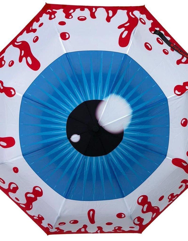 kreepsville 666 Skull Handle Umbrella - Eyeball