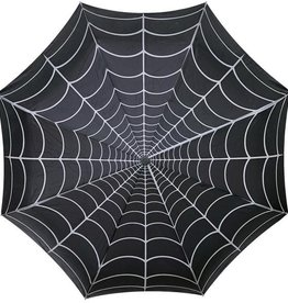 Skull Handle Umbrella - Spiderweb