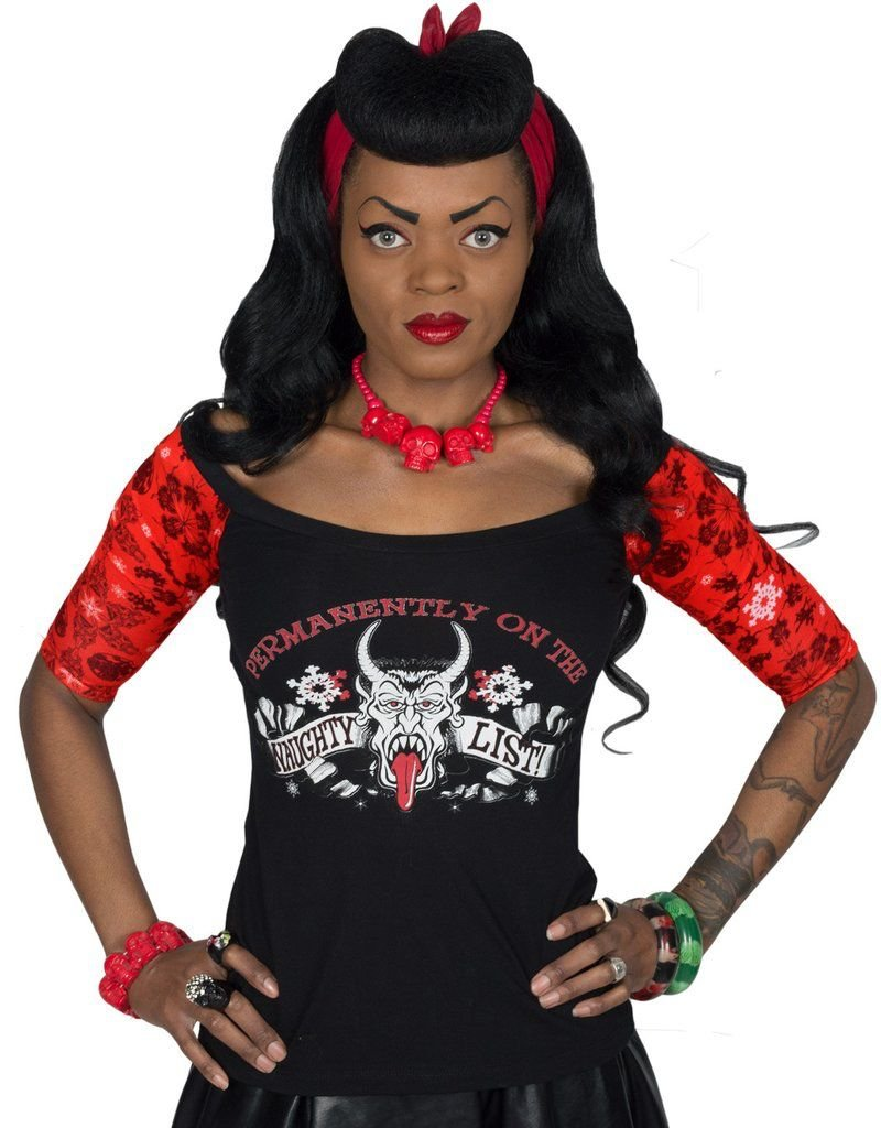 Krampus Naughty List Shoulder Tee