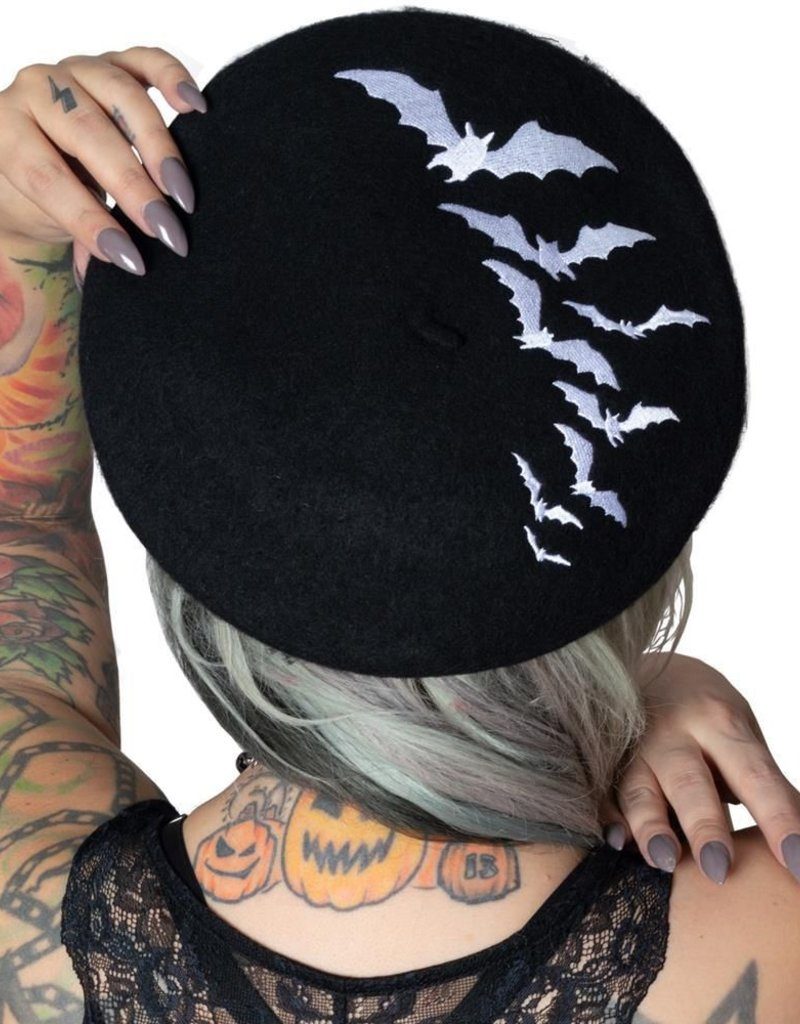 BAT REPEAT BERET HAT - BLK