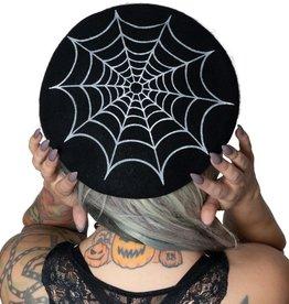 kreepsville 666 WEB BERET HAT - BLACK