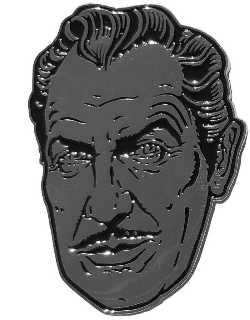 kreepsville 666 Vincent Price XL Silver Suave Pin