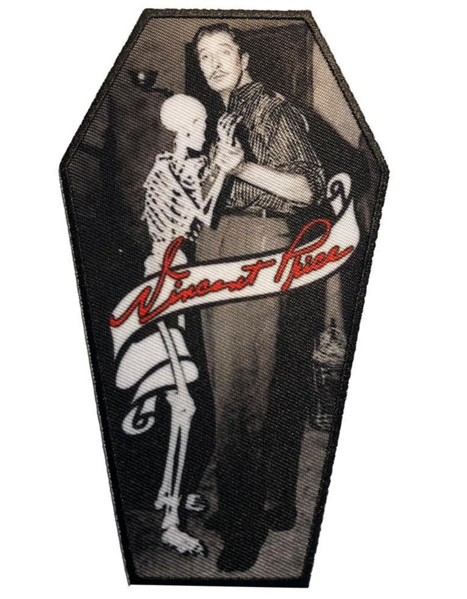 Vincent Price Skeleton Dance Coffin Patch