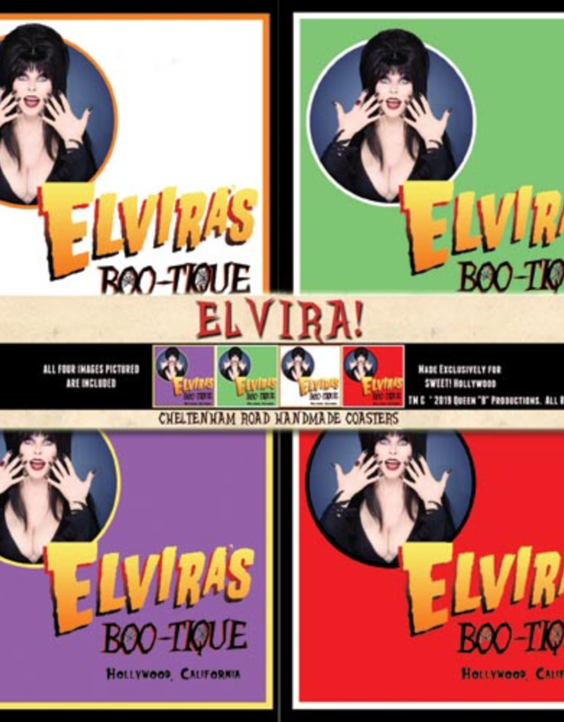 Elvira Boo-Tique Coaster 4 Pack