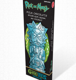 Geeki Tikis Rick and Morty, Rick Chocolate Bar Milk Chocolate, Spiced Rum Cream, and Coconut