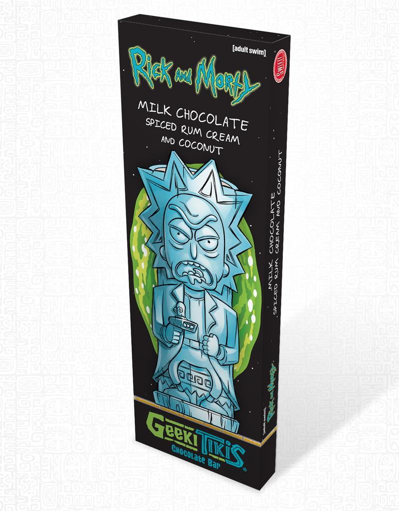 Rick and Morty Geeki Tikis Rick and Morty, Rick Chocolate Bar Milk Chocolate, Spiced Rum Cream, and Coconut