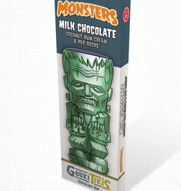 Monsters Geeki Tikis Monsters Frankenstein Milk Chocolate, Coconut Rum Cream, and Pop Rocks