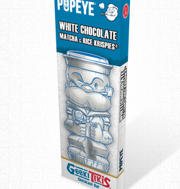 Popeye Geeki Tikis Popeye Chocolate Bar White Chocolate, Matcha, Rice Krispies