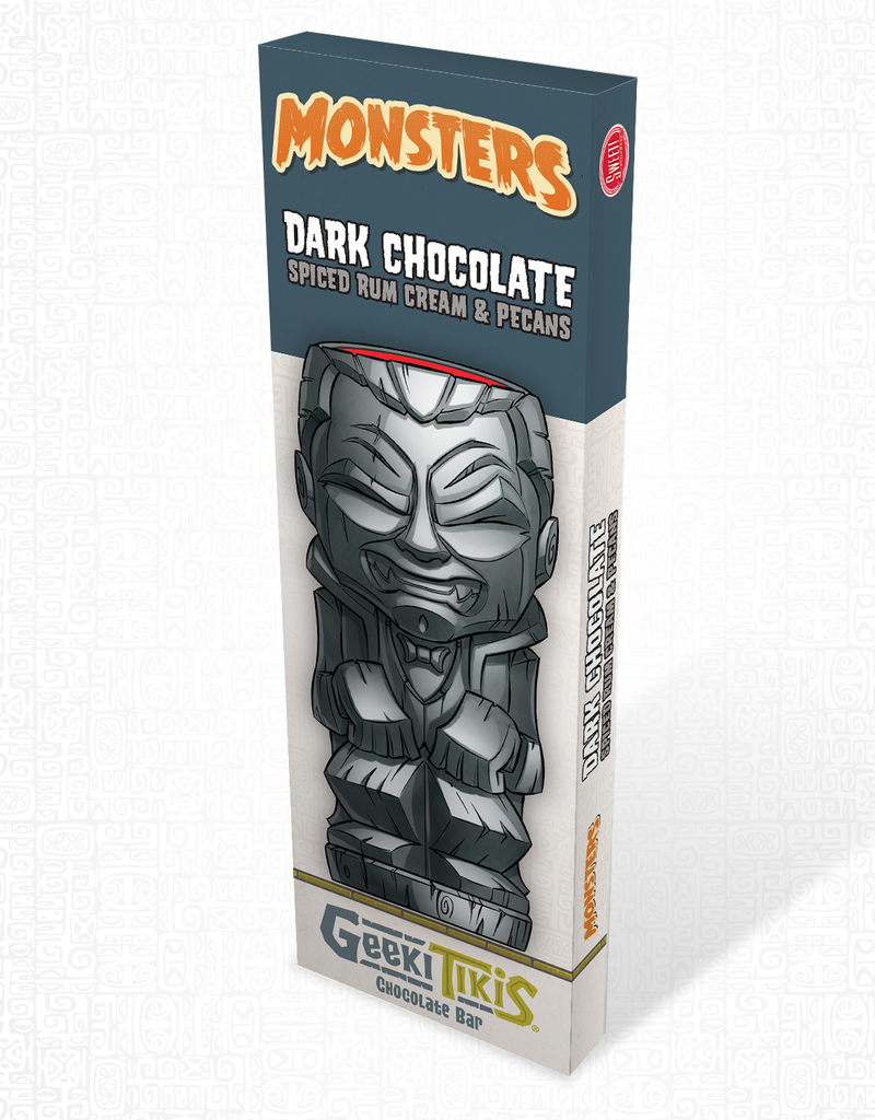 Monsters Geeki Tikis Monsters Dracula Dark Chocolate, Spiced Rum Cream, & Pecans