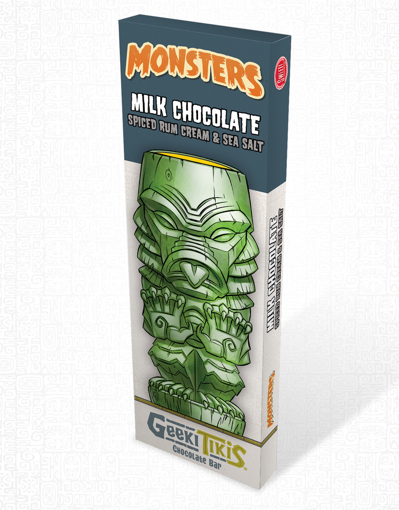 Geeki Tikis Monsters Creature from the Black Lagoon Milk Chocolate, Spiced Rum Cream, & Sea Salt