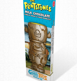 Geeki Tikis Flintstones Barney Chocolate Bar Milk Chocolate, Vanilla Cream, & Cocoa Pebbles