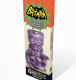 Geeki Tikis Batman 66 - Joker Chocolate Bar White Chocolate, Raspberry Jelly, Rainbow Sprinkles, and Milk Chocolate Chips