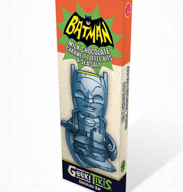 Geeki Tikis Batman 66 - Batman Chocolate Bar Milk Chocolate, Caramel, Toffee Bits, & Sea Salt