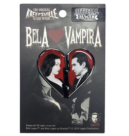 Bela Loves Vampira Broken Hearts Pin Set