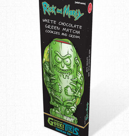 Rick and Morty Geeki Tikis Rick and Morty Pickle Rick Chocolate Bar White Chocolate, Green Matcha, & Cookies & Cream