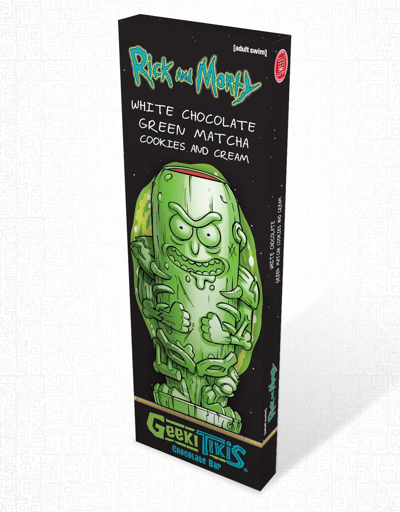 Rick and Morty Geeki Tikis Rick and Morty Pickle Rick Chocolate Bar White Chocolate, Green Matcha, & Cookies & Cream