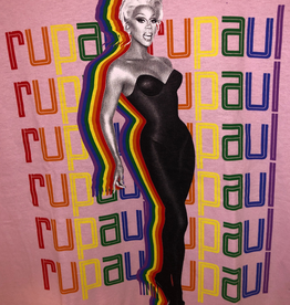 RuPaul Rainbow Logo Repeat T
