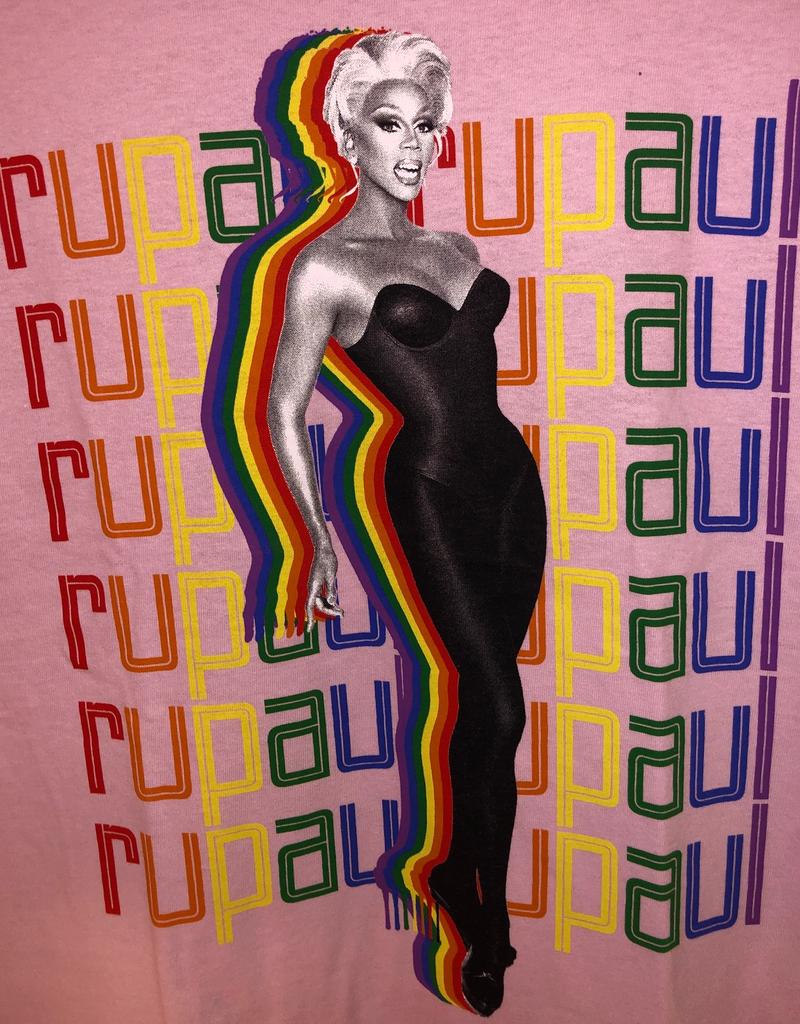 RuPaul Rainbow Logo Repeat T