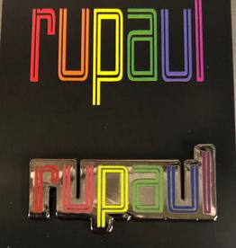 RuPaul Enamel Pin - Rainbow Colors Logo