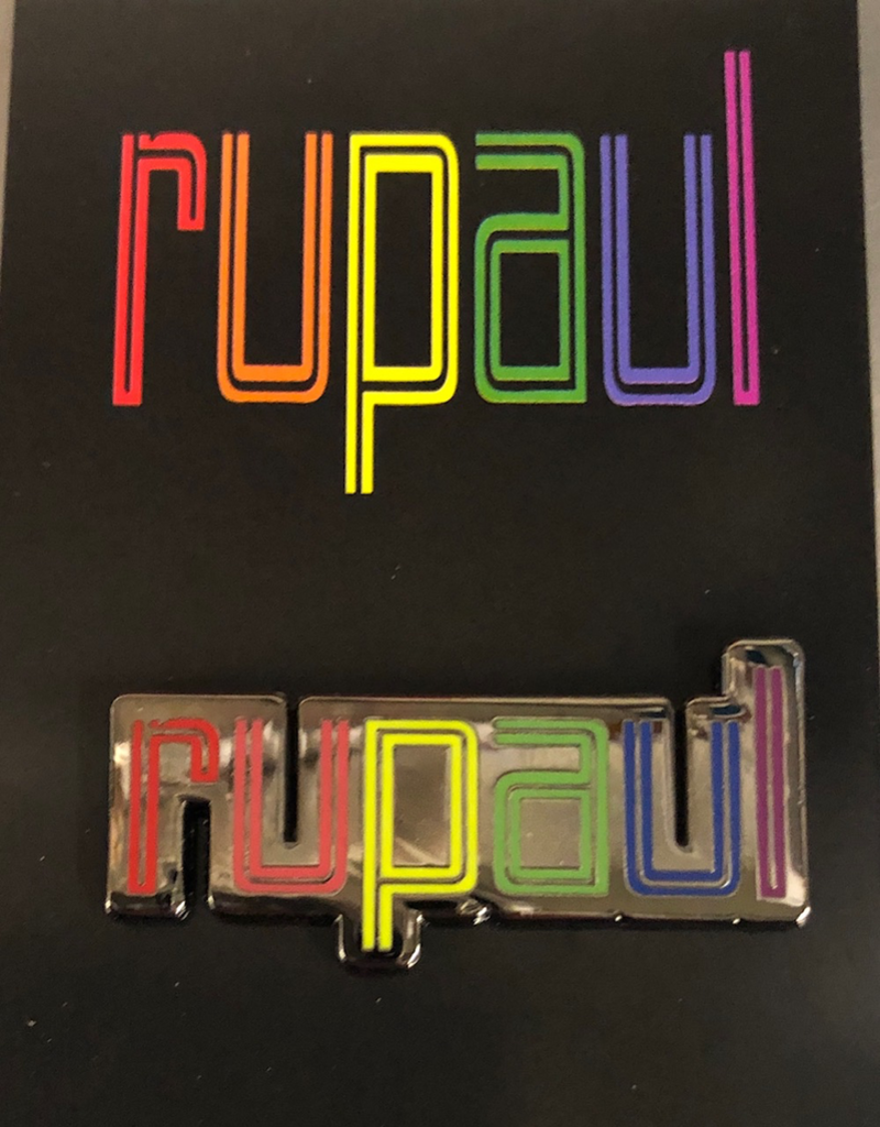 RuPaul Enamel Pin - Rainbow Colors Logo