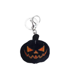 Black Pumpkin Plush Keychain