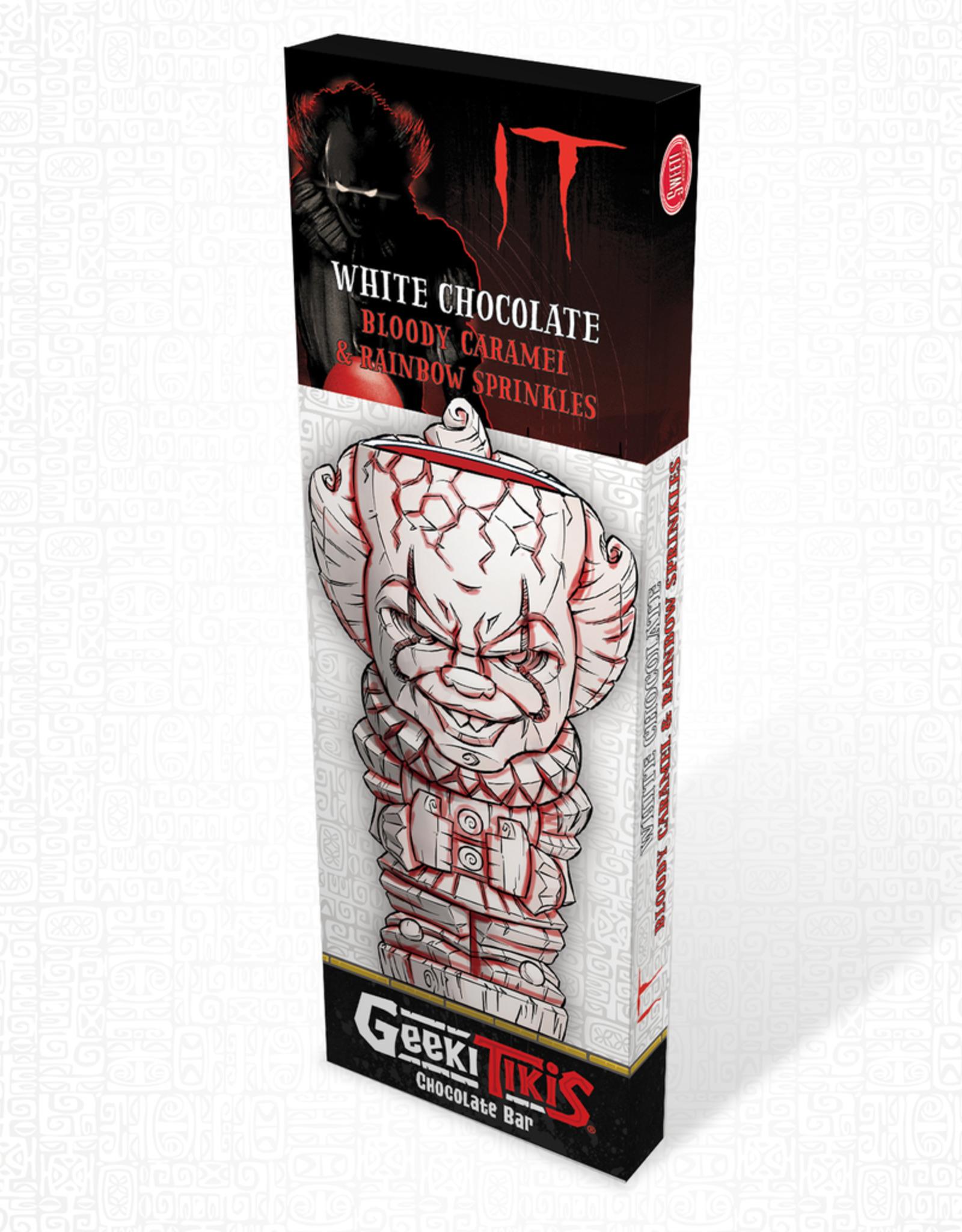 Warner Bros Geeki Tikis It Pennywise - It Chocolate Bar White Chocolate, Bloody Caramel & Rainbow Sprinkles
