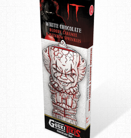 Warner Bros Geeki Tikis It Pennywise - It Chocolate Bar White Chocolate, Bloody Caramel & Rainbow Sprinkles