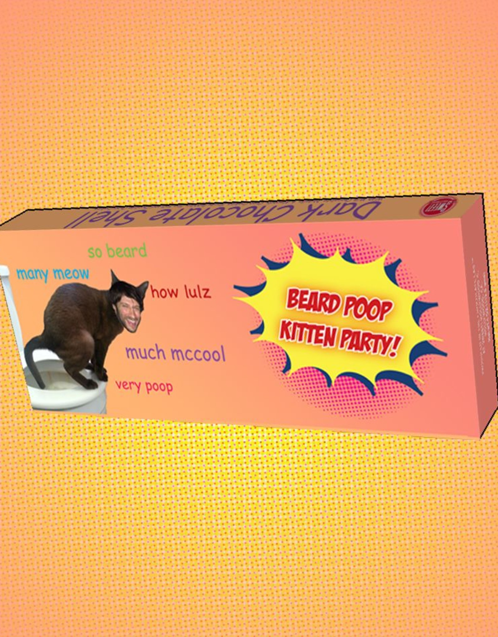 Todd McCool Beard Poop Kitten Party Bar