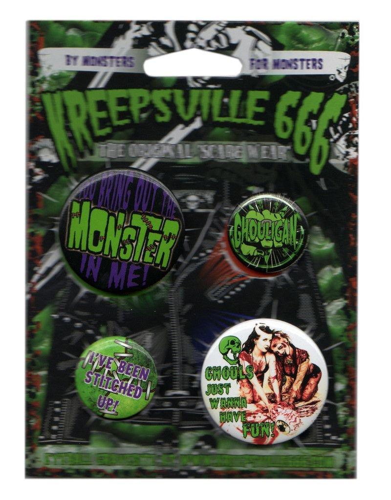 Ghoul Monster Badge Set