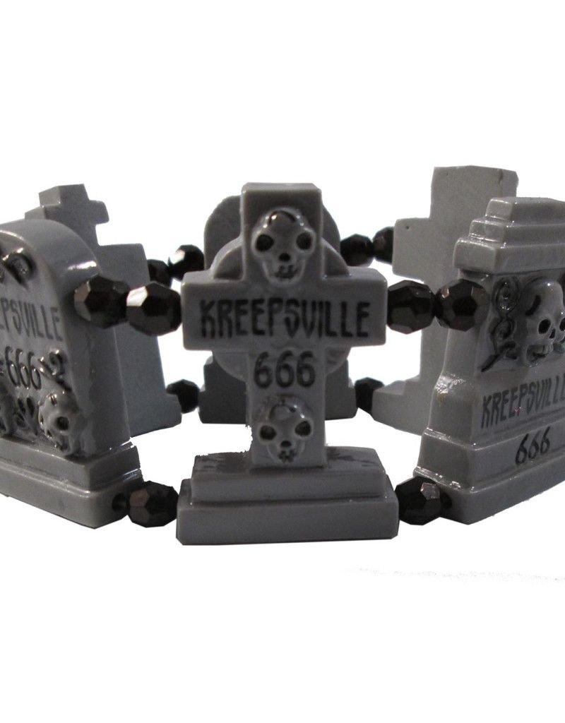 Graveyard Groupie Bracelet - Grey