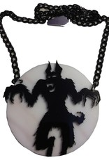 Howling At The Moon Acrylic Necklace
