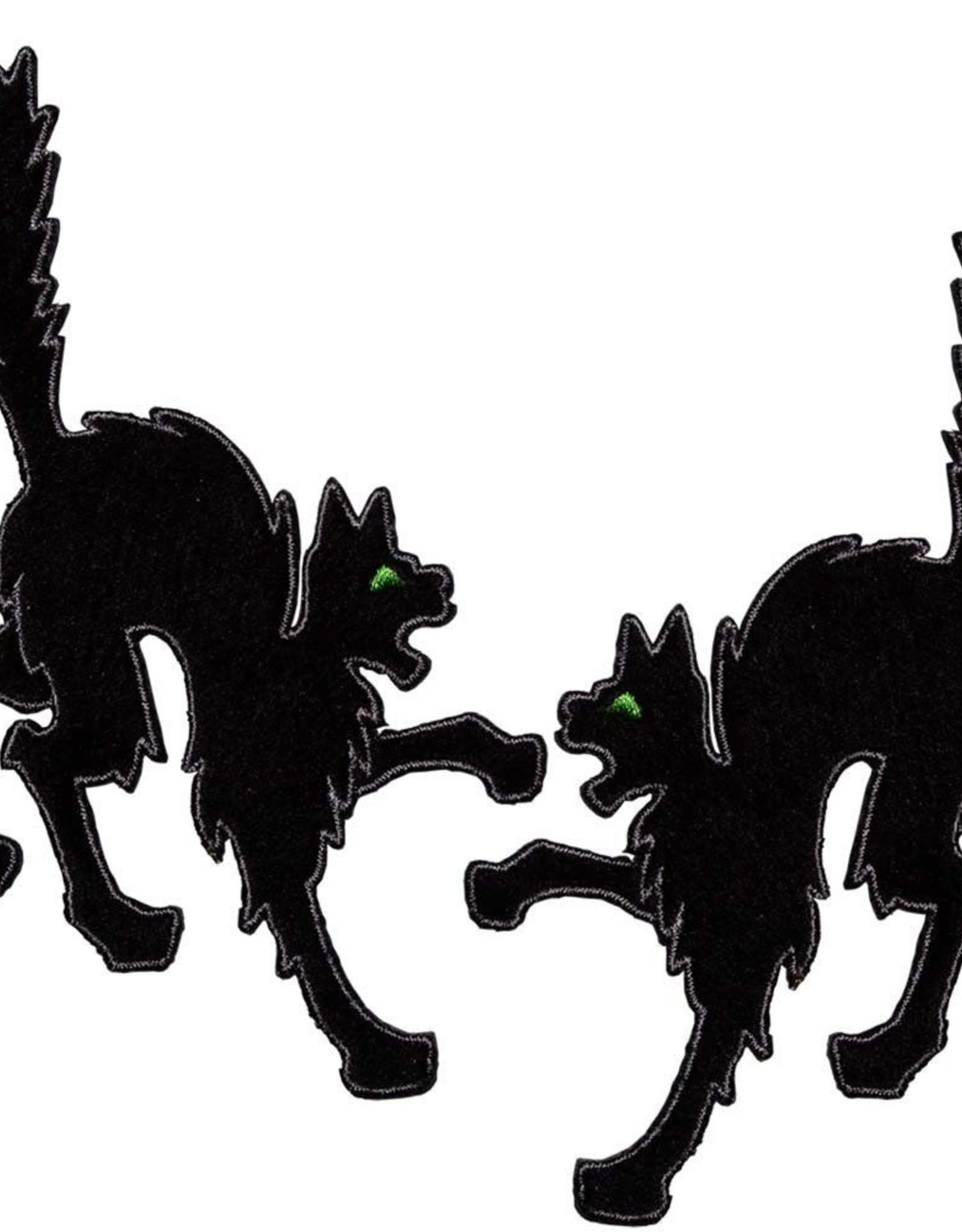 Black Cat Patch Pair