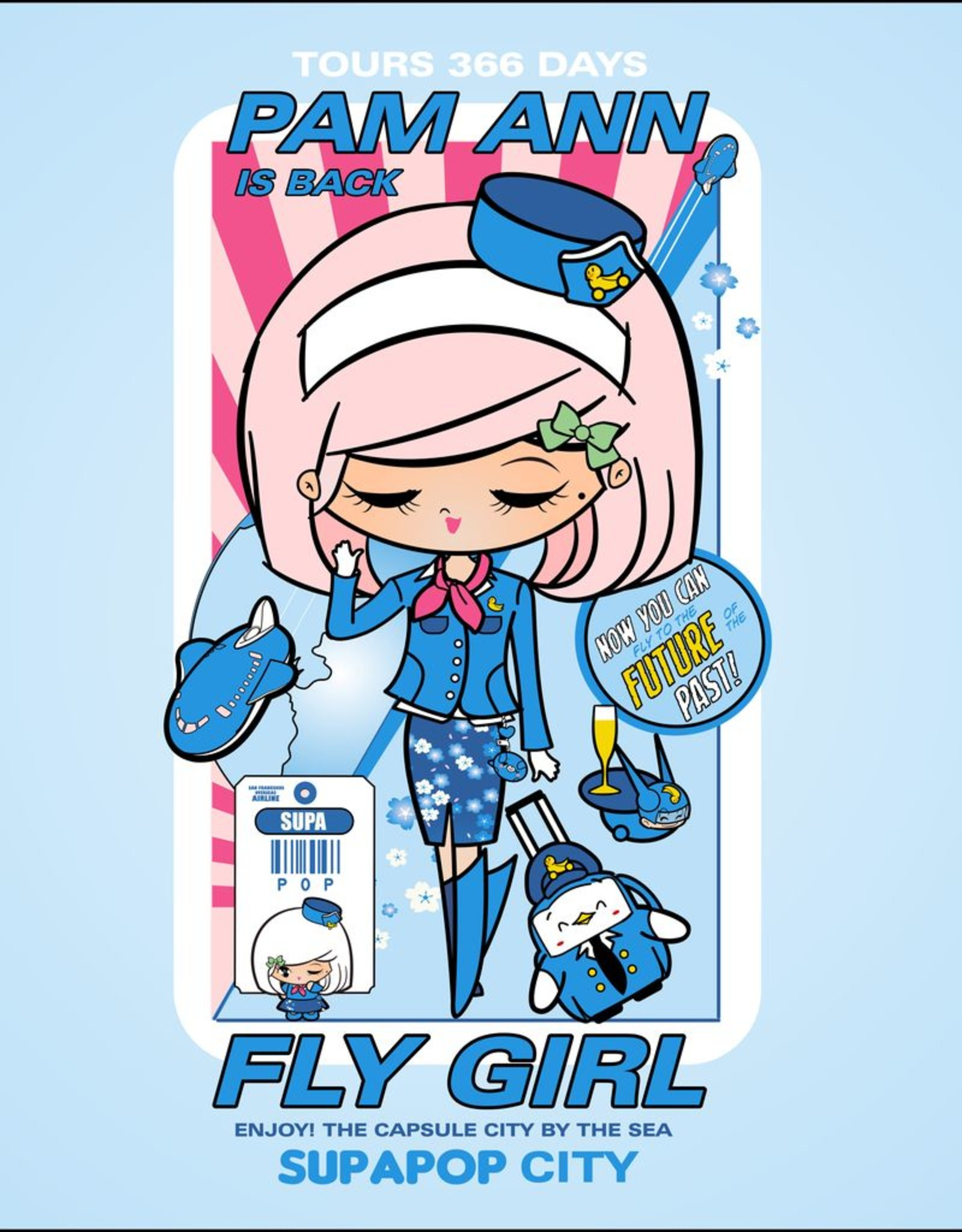 Sean Danconia - Supapop Fly Girls Juniors Tee