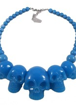 Skull Collection Necklace - Blue Glow
