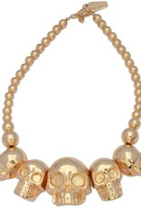 Skull Collection Necklace - Metallic Gold