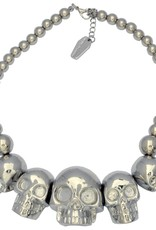 Skull Collection Necklace - Metallic Silver