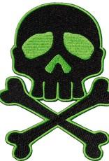 Skull Cross Bones Patch - Green