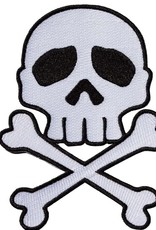 Skull Cross Bones Patch - White