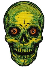 Staring Skull Patch - Yellow