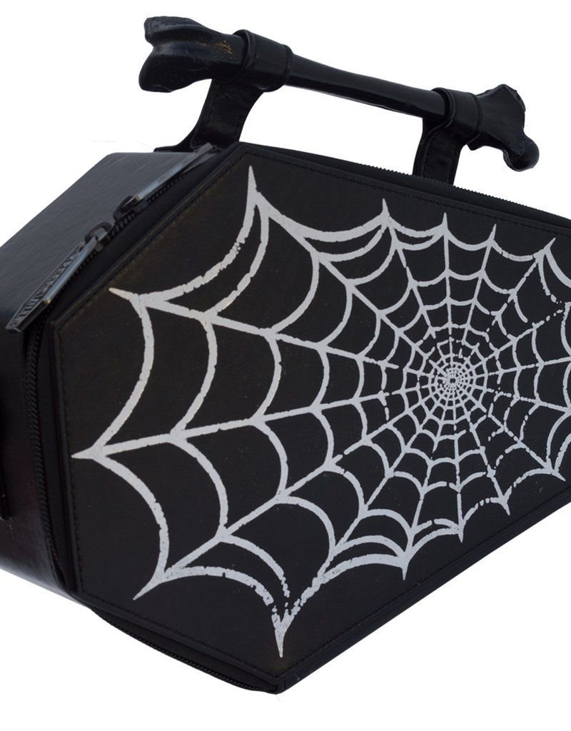 Spiderweb Foil Coffin Bag