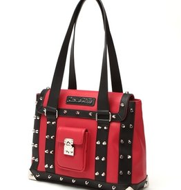 Mini Weekender Tote - Black/Red Matte