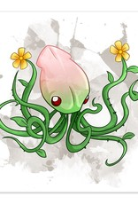 Cephfloralpod - Flower Squid - 8x8 Print