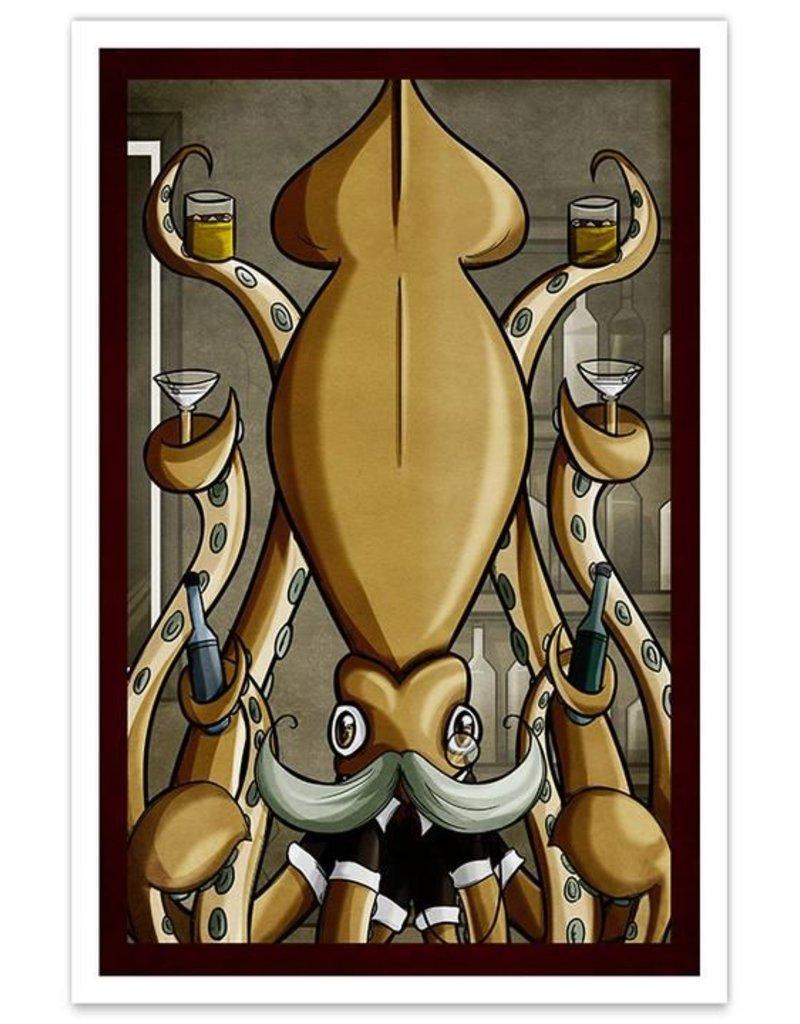 Dapper Squid - 12x18 Print