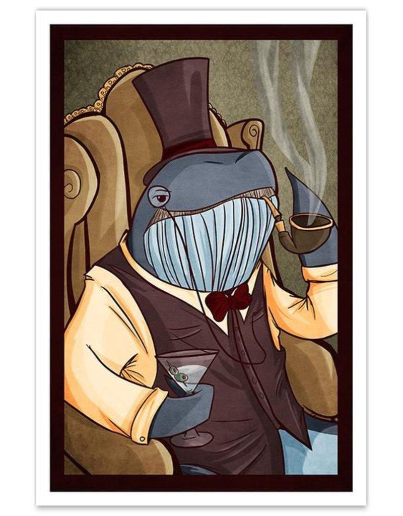 Dapper Whale - 8x12 Print