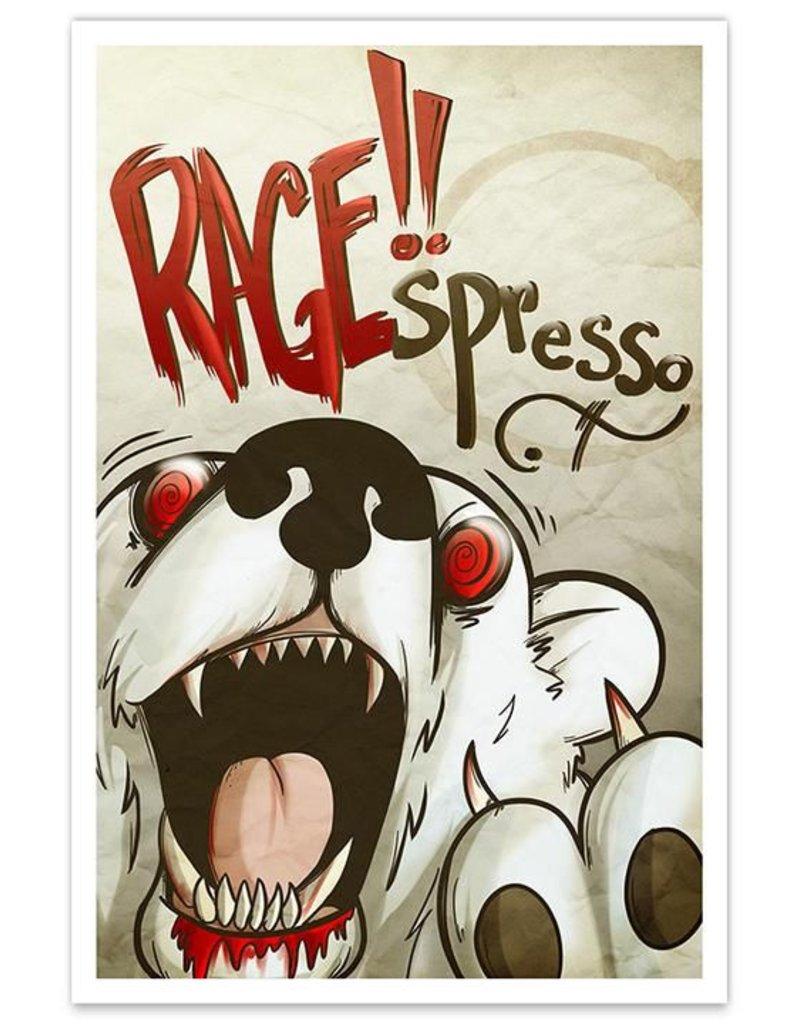 RAGE!!spresso Coffee Cafe - 8x12 Print